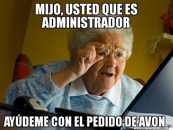 memes de administradores - abuela