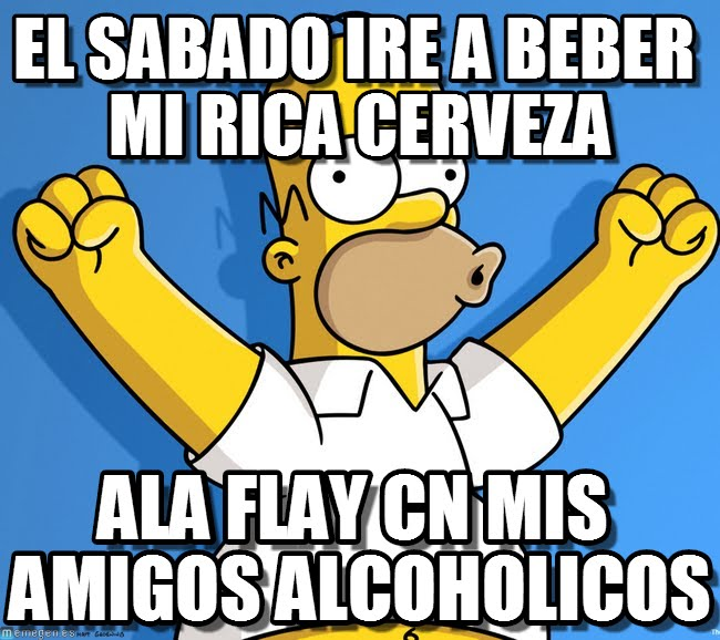 memes de amigos borrachos - homero simpson