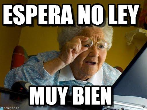 memes de espera - abuela en computadora