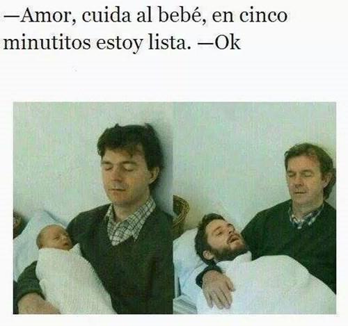 memes de espera - cuida al bebe