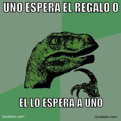 memes de espera - dinosaurio