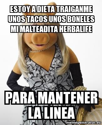 memes de herbalife - para mantener linea