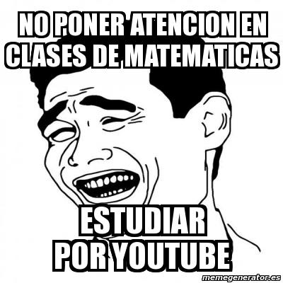 memes de matematicas - no poner atencion en clase