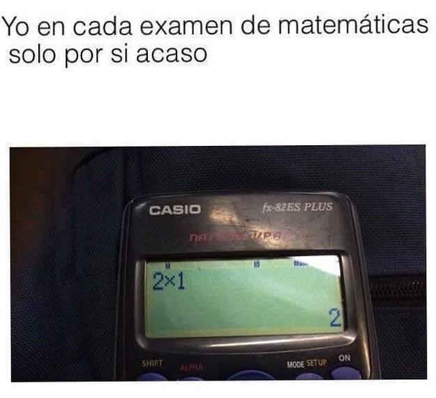 memes de matematicas - por si acaso