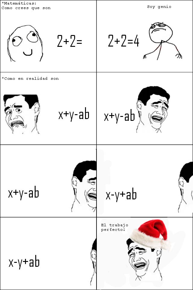 memes de matematicas - tira de meme