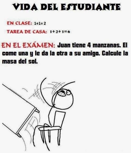 memes de matematicas - vida de estudiante