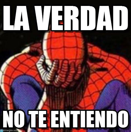 memes de no entiendo - spiderman