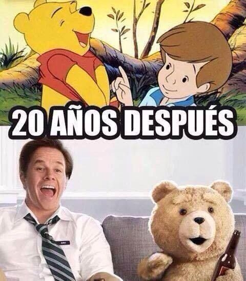 memes de ted - wiini pooh y ted