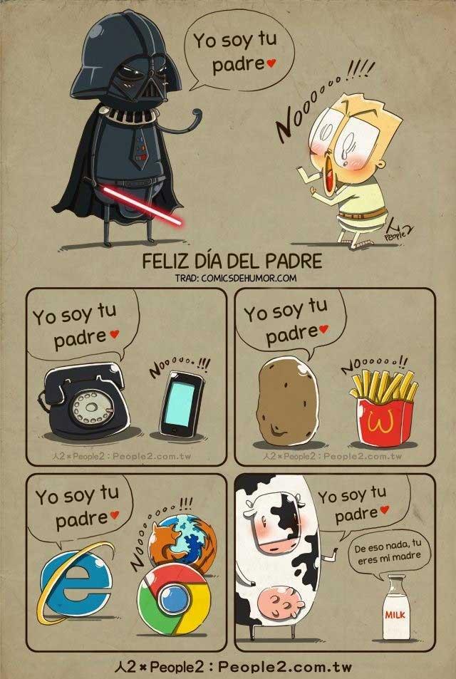 memes del dia del padre - caricatura chistosa de padres