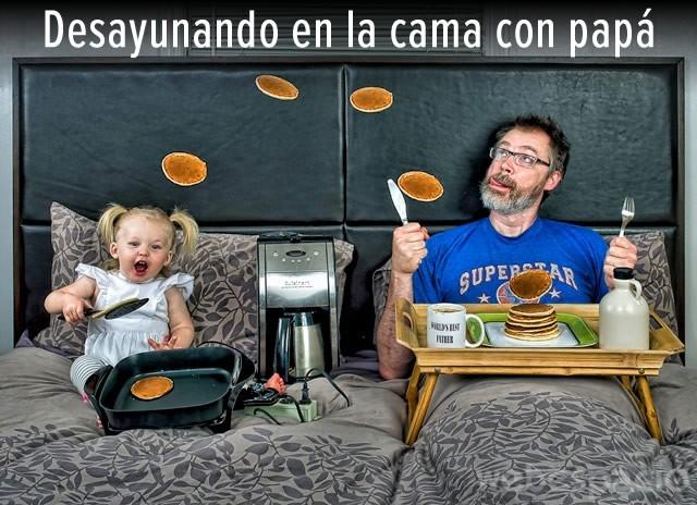 memes del dia del padre - desayunando con papa
