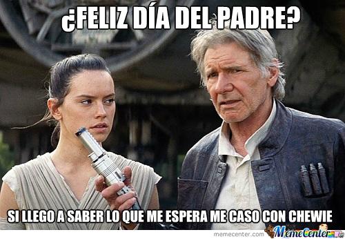memes del dia del padre - star war