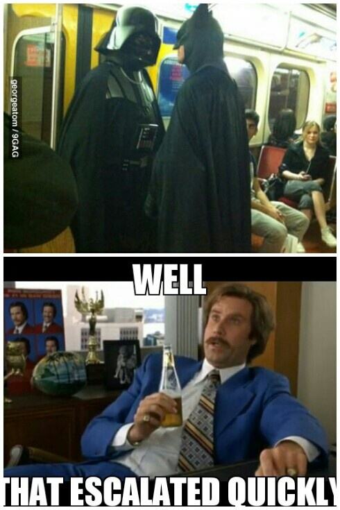 memes de batman - batman vs star war