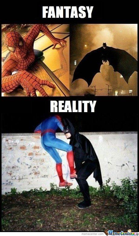 memes de batman - realidad contra expectativa