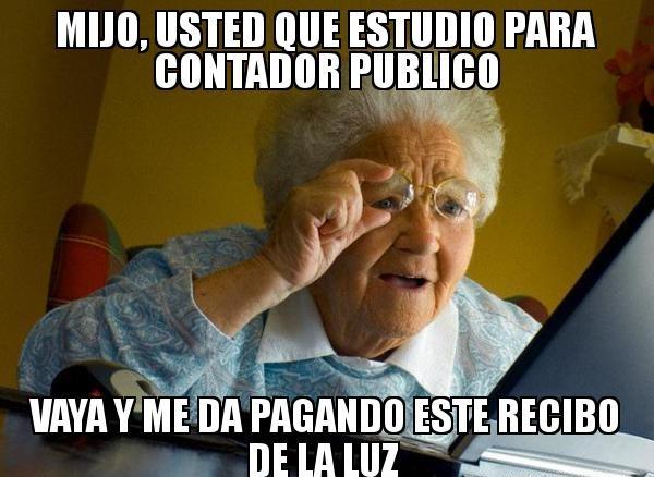 memes de contadores - abuelita