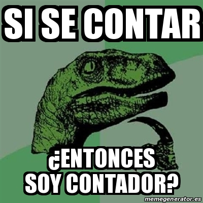memes de contadores - dinosaurio