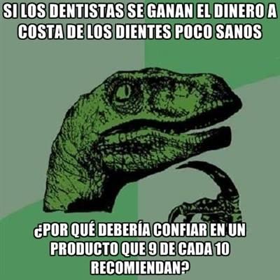 memes de dentistas - dinosaurio