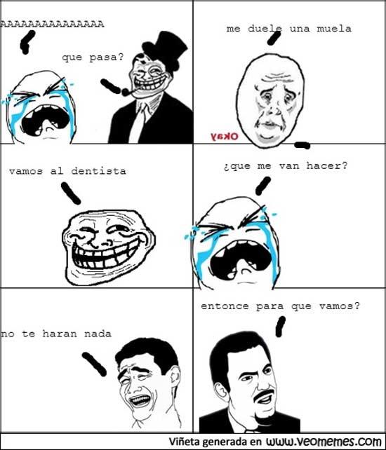memes de dentistas - tira comica