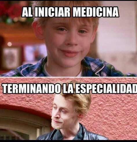 memes de doctores - al iniciar medicina