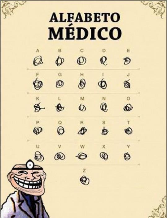 memes de doctores - alfabeto