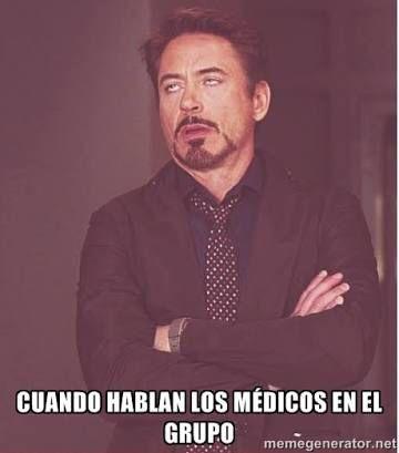 memes de doctores - cuando hablan de medicos