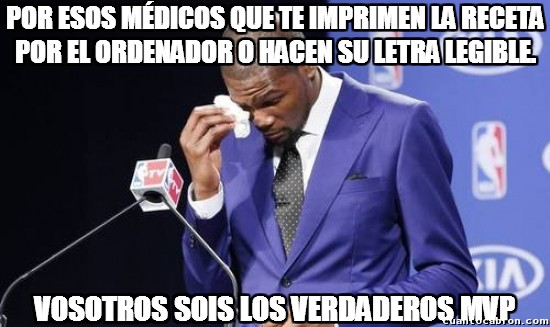 memes de doctores - kevin durant