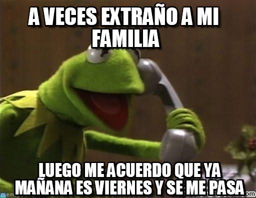 memes de familia -  a veces extrano a mi familia