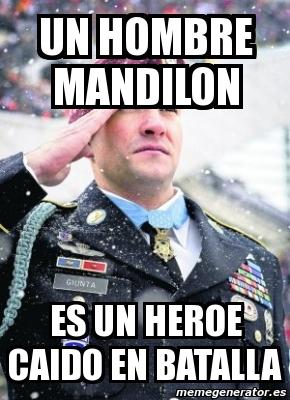 memes de mandilones - un hombre mandilon
