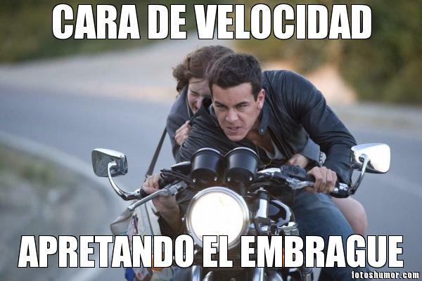memes de motos - cara de velocidad