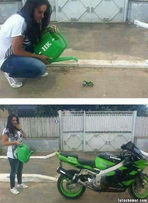 memes de motos - crecio la moto