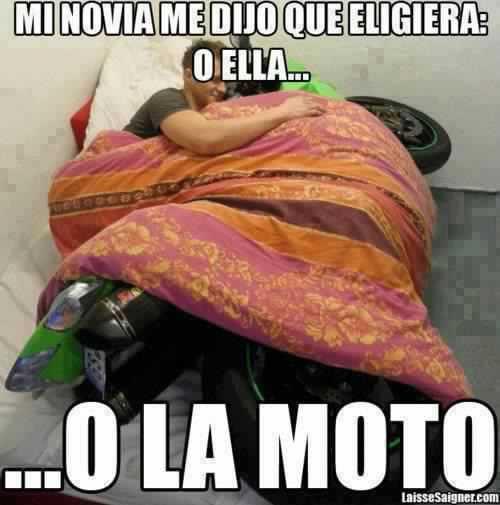 memes de motos - la moto o yo