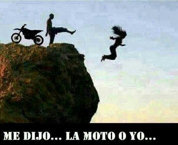 memes de motos - me dijo yo o la moto