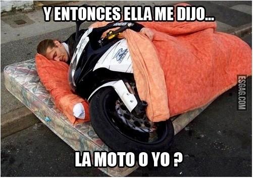 memes de motos - mi novia o la moto