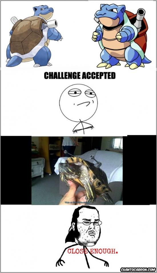memes de pokemon go - challenge acepted