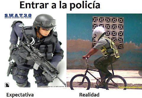 memes de policias - entrar en la policia