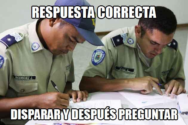 memes de policias - respuesta