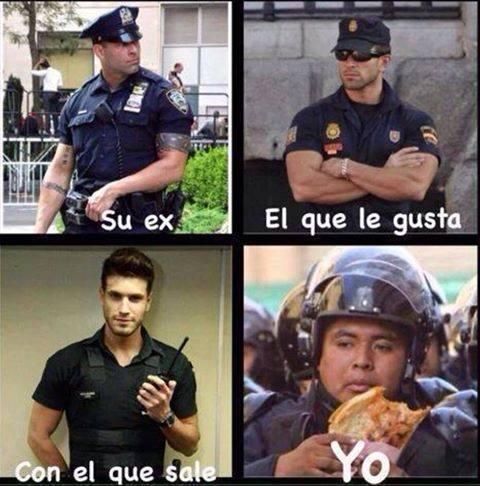 memes de policias - yo