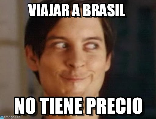 memes de viajes - viajar a brasil