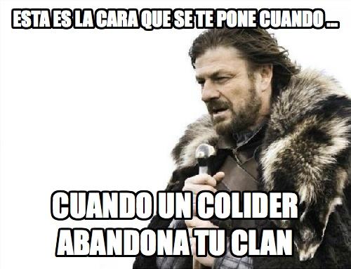 memes de clash of clans - cuando el colider abandona
