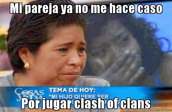 memes de clash of clans - mi pareja