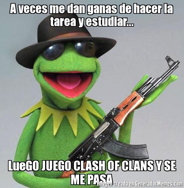 memes de clash of clans - rana rene