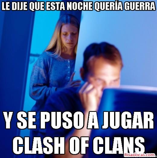 memes de clash of clans - se puso a jugar