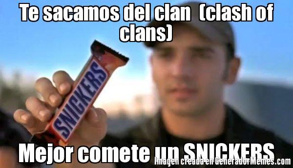 memes de clash of clans - snickers