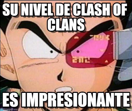 memes de clash of clans - su nivel de clash