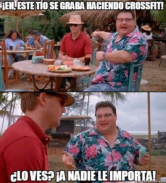 memes de crossfit - a nadie le importa
