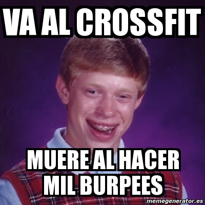 memes de crossfit - los burpees