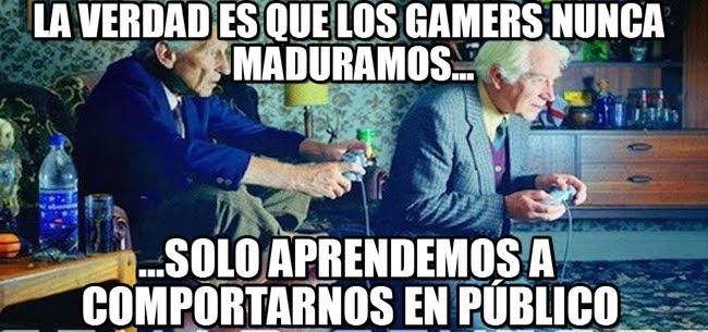 memes de gamers - nunca maduramos