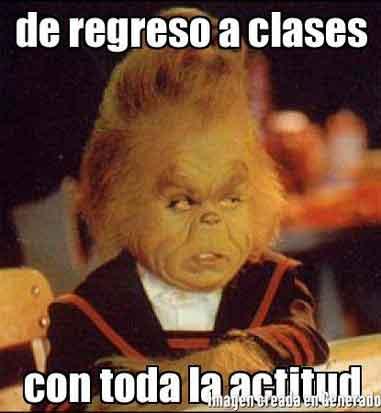 memes de regreso a clases - actitud