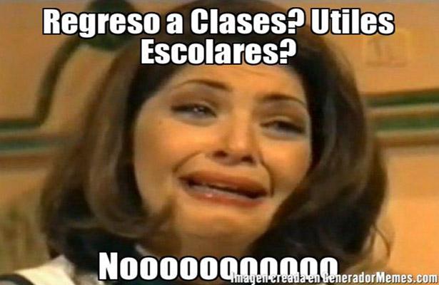 memes de regreso a clases - sin utilis escolares