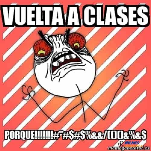 memes de regreso a clases - vuelta a clases