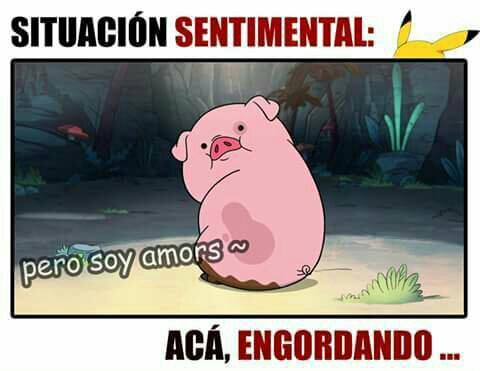 memes de situacion sentimental - aca engordando